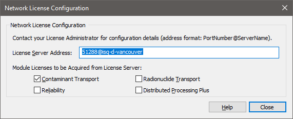 Connecting to a Network License